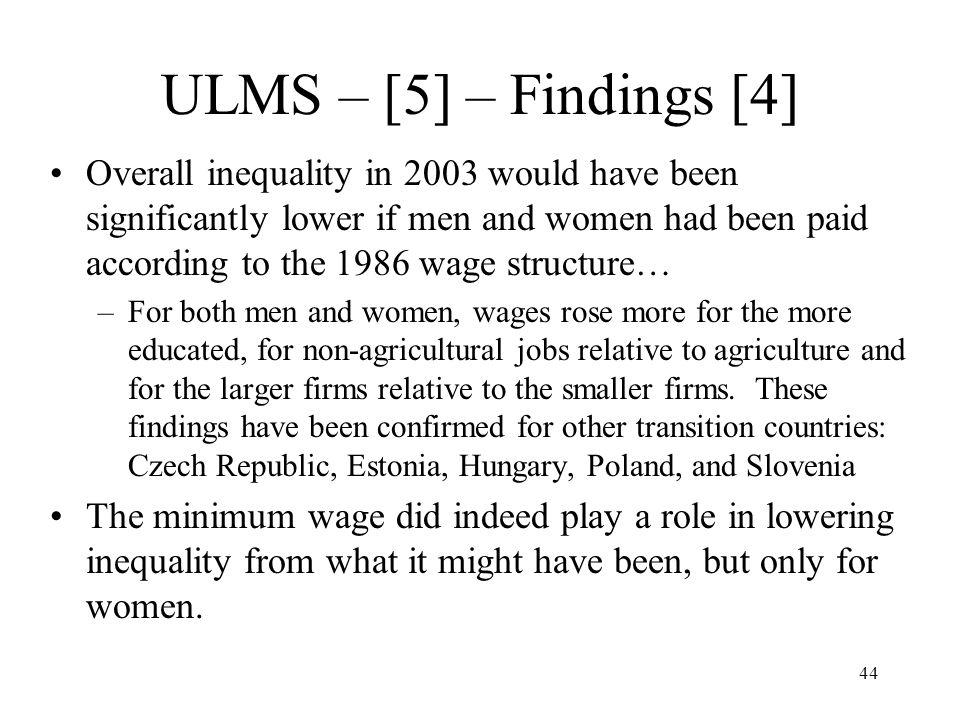 ULMS – [5] – Findings [4]